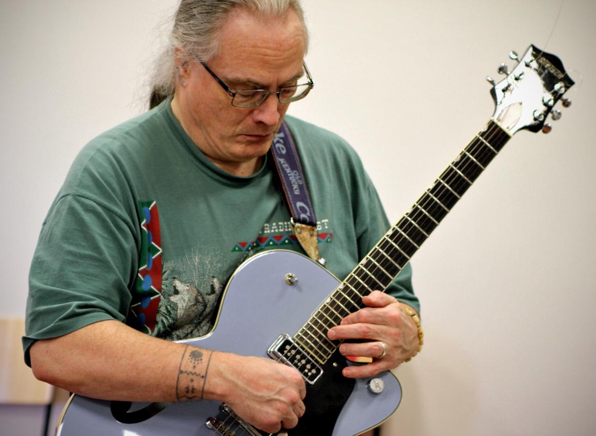 Tony on the guitar