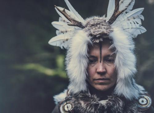 Tanja Raman in Rites for the Digital Shaman - photo by Antti Karppinen